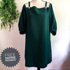 Tibi Arden Emerald Suspender Cocktail Dress 10